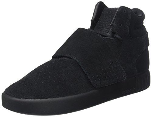 adidas Herren Tubular Invader Strap Hohe Sneaker, Schwarz (Core Black/core Black/Footwear White), 44 2/3 EU
