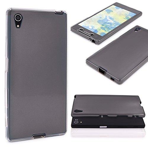 Urcover® Metalloptik 360 Grad Hülle kompatibel mit Sony Xperia Z5 Plus   TPU in Schwarz   Ultra Slim Zubehör Tasche Hülle Handy-Cover Schutz-Hülle Schale