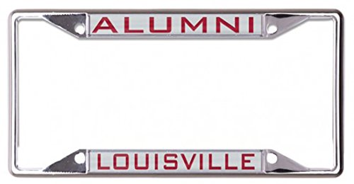 University of Louisville Cardinals ALUMNI Premium License Plate Frame, metal with silver acrylic inlay