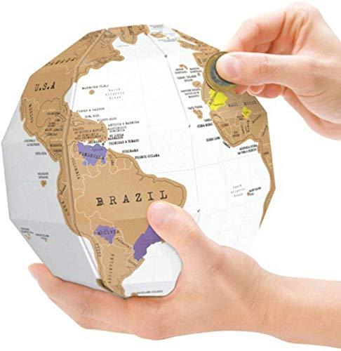 Kreative DIY Globus 3D Weltkarte Reise Kind Kind Geschenk Tellurion - Weiß - Papier