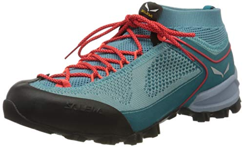 Salewa Damen WS Alpenviolet Knitted Trekking-& Wanderstiefel, Canal Blue/Ocean, 40.5 EU
