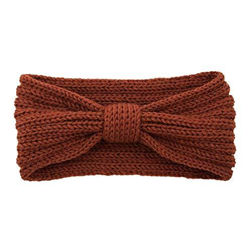 Herfst en Winter Warm Hoofdband Hood Top Knot Hoofdband Handgemaakte Wol Gebreide Haarband dames Haaraccessoires,21 size 21