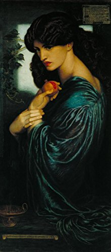 Gifts Delight Laminated 14x32 Poster: Dante Gabriel Rossetti - Proserpine Rossetti Painting
