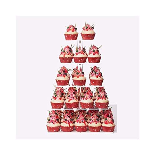 UNU_YAN Modern Simplicity Cake Stand 5 Capa Pantalla Pantalla de Pastel Cuadrada Pantalla de acrílico Soporte de exhibición Adecuado para Fiesta para la Fiesta de la Fiesta de cumpleaños