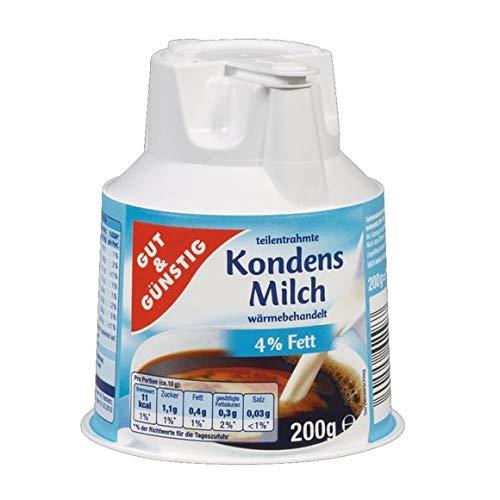 Gut & Günstig Kondensmilch 4%, 20er Pack, 20 x 200 g