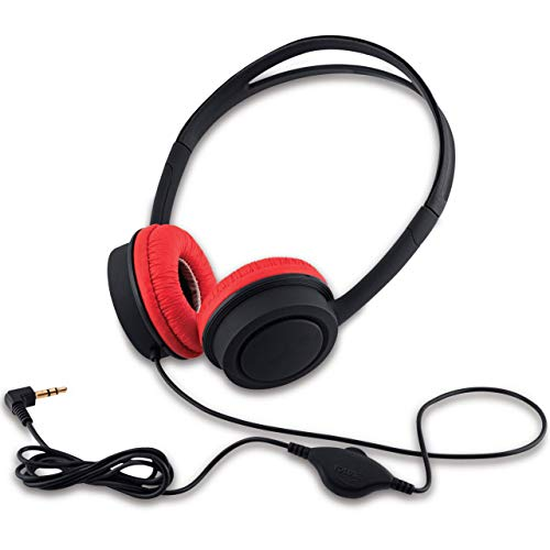 iBall Kids Star Kids Safe Wired Headphone with in line Volume Controller-Black and Red