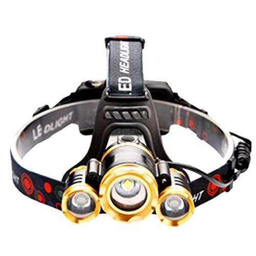 Ljf Faros Delanteros Recargables súper Brillantes para Luces de inducción, para Deportes al Aire Libre Negro 1
