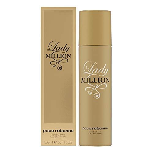 Paco Rabanne Lady Million femme / woman, Deodorant Spray 150 ml, 1er Pack (1 x 150 ml)