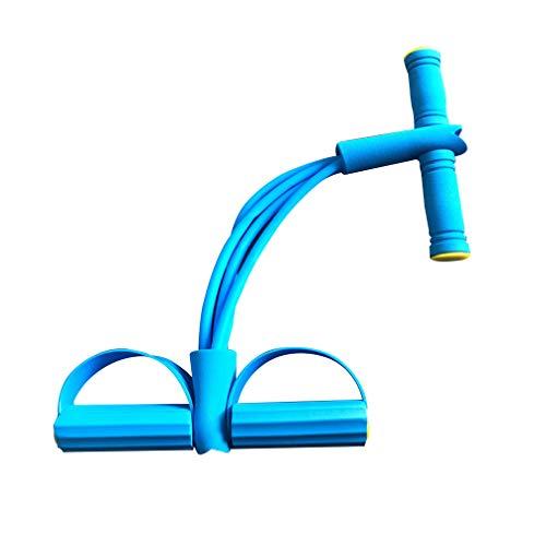 BESPORTBLE 4 Tubos Pedal Elástico Corda de puxar com Alça Expansor para Cintura Abdômen Braço Esticável