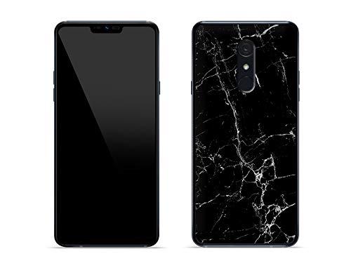 etuo Hülle für LG G7 Fit - Hülle Fantastic Hülle - Schwarze Marmor Handyhülle Schutzhülle Etui Hülle Cover Tasche für Handy