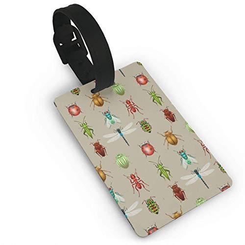 Gepäckanhänger mit Riemen Cartoon Zähne Muster Pink Größe 2.2 '' X 3.7 ''