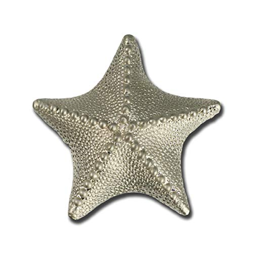Starfish Drawer Pulls and Knobs- Sea Star Handles, Nautical Pulls, Coastal Drawer Pulls, Sea Life Cabinet Knobs, Ocean Themed Drawer Pulls, Brushed Nickel and Brass Starfish Knobs