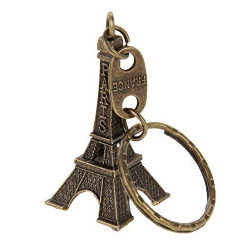 SNUIX Eiffelturm Modell Schlüsselanhänger Keyring Einrichtungsartikel Modell Fotografie Props Kreative Haushalt Geschenk, Größe: 5 x 2,1 cm (Farbe : Color1)