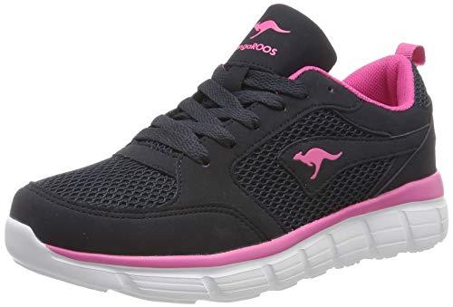 KangaROOS Kr-rimble, Zapatillas para Mujer, Azul (Dk Navy/Daisy Pink 4204), 41 EU