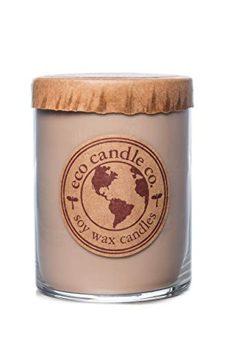 Eco Candle Co. Recycled Candle, FIREWOOD, 16 Oz. - 100% Soy Wax, No Lead, Kraft Paper Label & Lid, Hand Poured, Phthalate Free, Made from Midwest Grown Soybeans, All Natural Wicks