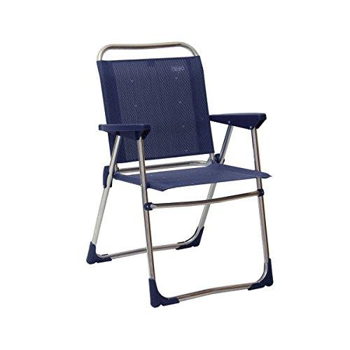 STABIELO-léger - 2,28 kg chaise pliante en aluminium-couleur : sable-charge maximale 110 kg pour les produits de distribution sTABIELO ® innovation fabriqué en allemagne-hOLLY-sunshade ® contre supplément avec hOLLY fÄCHERSCHIRMEN -