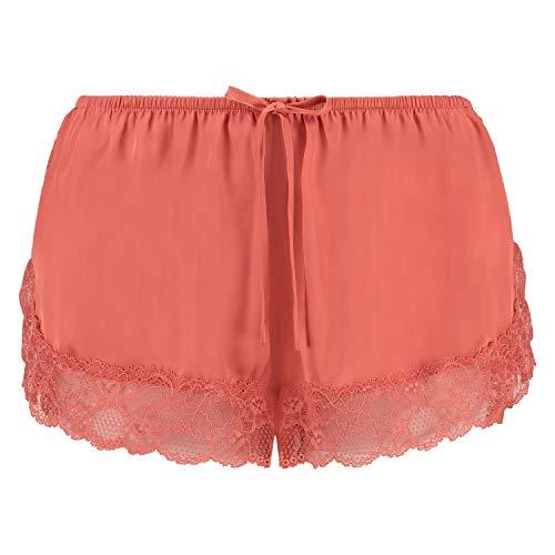 HUNKEMÖLLER Pyjama-Shorts Satin Orange M