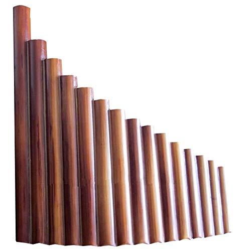 15 Tubos De Bambú Natural Instrumento De Viento Panpipe G Key Flauta Xiao Hecho A Mano Flauta De Pan Folk Instrumentos Musicales (Color : Left hand)