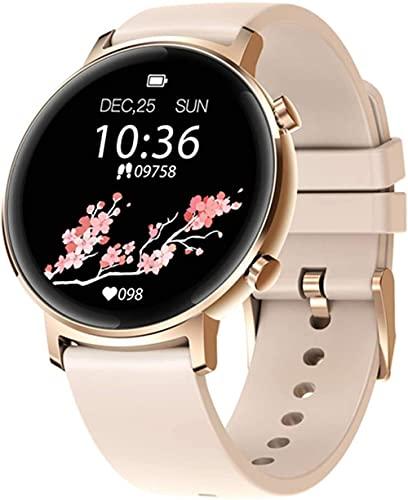 Reloj inteligente de los hombres de la salud y la aptitud Smartwatch cuerpo de metal 3 ATM 30 días vida de la batería Bluetooth reloj de pulsera para las mujeres-A