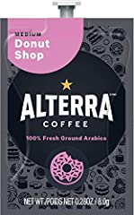 "Grab a cup of this delightful coffee and enjoy the balanced notes of caramel, berry and honey. A classic, reinterpreted! Alterra Coffee Roasters provides ""hard working coffee"" to your Flavia Coffee Brewer Premium DOVE Mocha (Add Donut Shop coffee to ..."