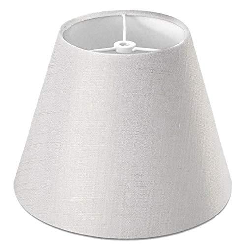 AleXanDer1 Tulipas para lamparas Lámpara De Tela De Lino Blanco Pantalla Pequeña Lámpara De 5 Pulgadas Diámetro Superior X 9 Pulgadas Diámetro Inferior X 7 Pulgadas De Altura