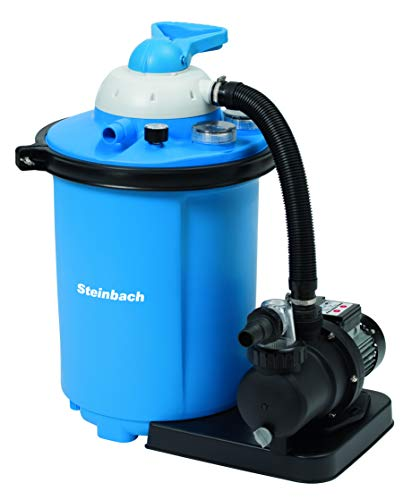 Steinbach Filteranlage Comfort 75, Umwälzleistung 8 m³/h, 230 V/550 Watt, 7-Wege-Ventil, Anschluss Ø 32/38 mm, INTEX Adapter, Zeitschaltuhr, 040100