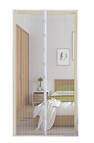 Qemsele Magnet Fliegengitter Magnetvorhang, Fliegengitter Balkontür Magnet Tür Insektenschutz, Vorhang Ideal für die Balkontür, Kellertür Und Terrassentür, Kinderleichte Klebemontage