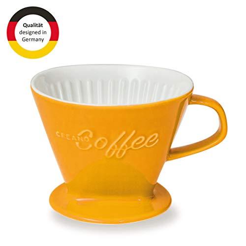 Creano Porzellan Kaffeefilter, Filter Größe 4 (Safrangelb) In 6 Farben erhältlich