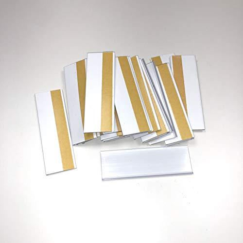 100 pezzi di porta etichette autoadesive da 30 mm di altezza 100 mm di lunghezza, porta etichette singole da 100 mm