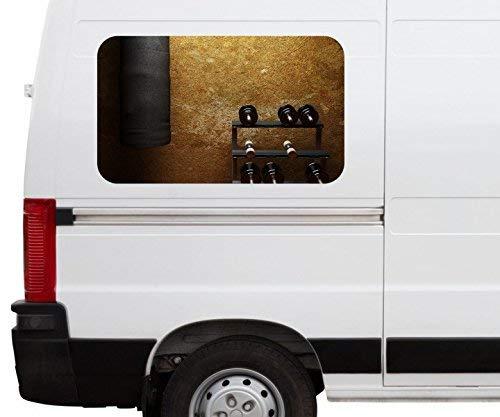Autoaufkleber Fitness Hanteln Boxsack retro Car Wohnmobil Auto tuning Digital Druck Fenster Sticker LKW Bild Aufkleber 21B265, Größe 3D sticker:ca. 161cmx 96cm
