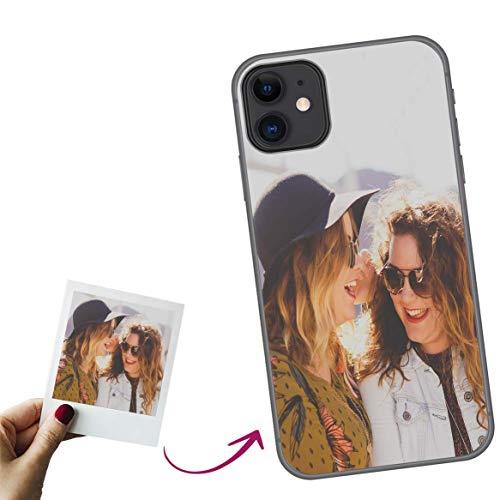Mookase Funda de Gel para iPhone 12/12 Pro Personalizada para tu móvil con Foto Imagen o Texto, Carcasa Personalizable, Gel Flexible, Trasparente, Regalo Original
