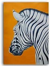 N / A Abstract Zebra Animal Orange Backboard Canvas Painting Poster e imágenes Impresas para la Sala de Estar Decoración del hogar sin Marco 60x80 cm
