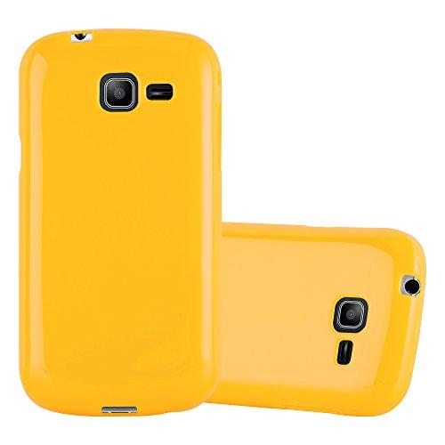 Cadorabo Custodia per Samsung Galaxy Trend Lite in Jelly Giallo - Morbida Cover Protettiva Sottile di Silicone TPU con Bordo Protezione - Ultra Slim Case Antiurto Gel Back Bumper Guscio