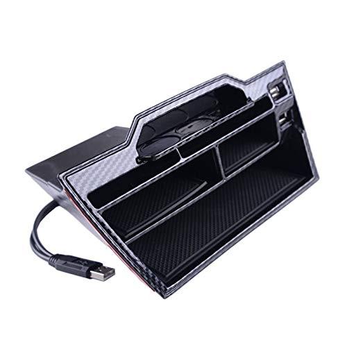 RJJX Ersatz-Storage Box Schwarz Organizer USB-Anschluss Fit for Civic 10. 2016-2019 (Color : Black)