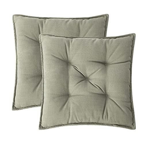 RGRE Pack De 2 Cojines para Sillas, Cojin para Silla Jardin, Cojín Decorativo De Asiento, Cojines Terraza Exterior, 43 X 43 Cm