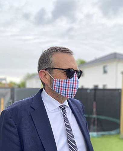 Business Mundschutz Maske Herren waschbar seriös 100% Handmade in Deutschland 100% BioBaumwolle Brillenträger