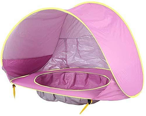 JACKWS Intéressant Enfants Tente Tente for Enfants OceanSun Protection Piscine Plage Château de Hutte Toy House en Plein air for Enfants Tipi Filles et garçons (Color : Pink)