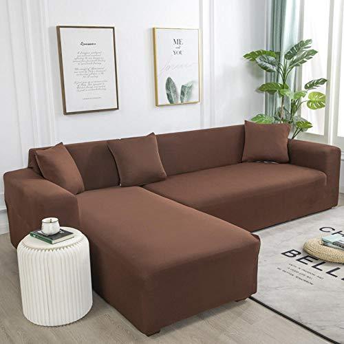 Fsogasilttlv Funda de Sofá Elástica 2 plazas y 4 plazas, Funda de sofá elástica elástica de Color sólido, Fundas de sofá para sofás universales para Sala de Estar D