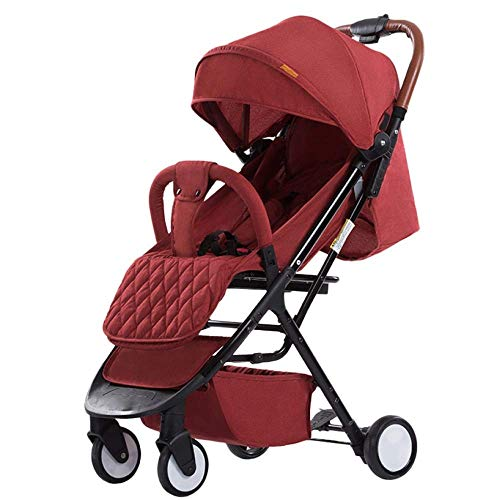 Affordable ETERLY Lightweight Baby Pram Pushchair Buggy Travel Stroller,97x64x50cm (Color : Red2)