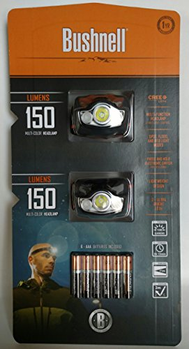 Bushnell Multi-color Headlamp 2 Pack