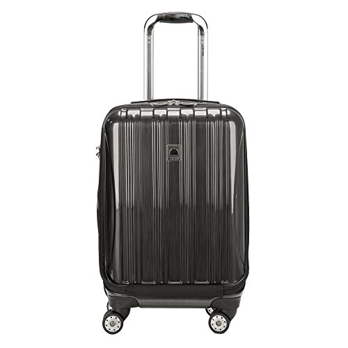 DELSEY Paris Helium Aero Hardside Expandable Luggage with Spinner Wheels, Brushed Charcoal, Carry-On 19 Inch