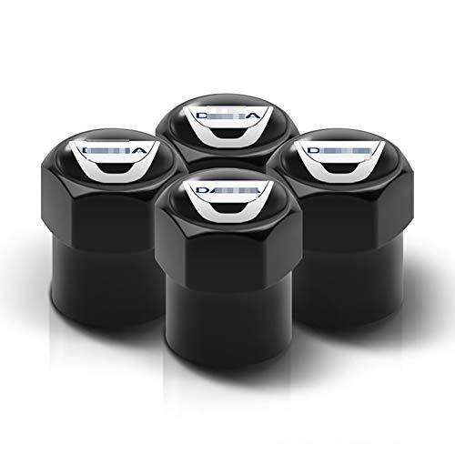 4 Uds tapas de válvula de neumático de rueda decoración de placa de neumático tapa de polvo de Metal de neumático de coche para Dacia Duster Logan MCV Sandero Stepway Dokker Lodgy