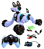 Toyshine Remote Control Smart Robot Dog Toy with Light and Sound, Gesture Sensing Function - White
