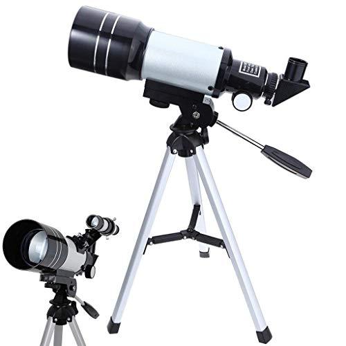 HD Telescopio Astronómico Trípo Protable Potente Espacio Terrestre Telescopio Monocular Observación la Luna Principiantes Aficionados