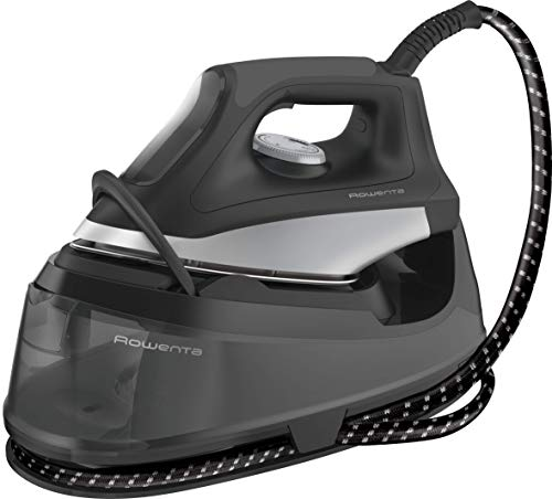 Rowenta VR7048F0 - Centro de planchado golpe de vapor 220 g/min, 2400W potencia y 5,5 bar. Depósito de agua 1,2 L capacidad, calentamiento en 2 min. Modo ECO (Reacondicionado Certificado)