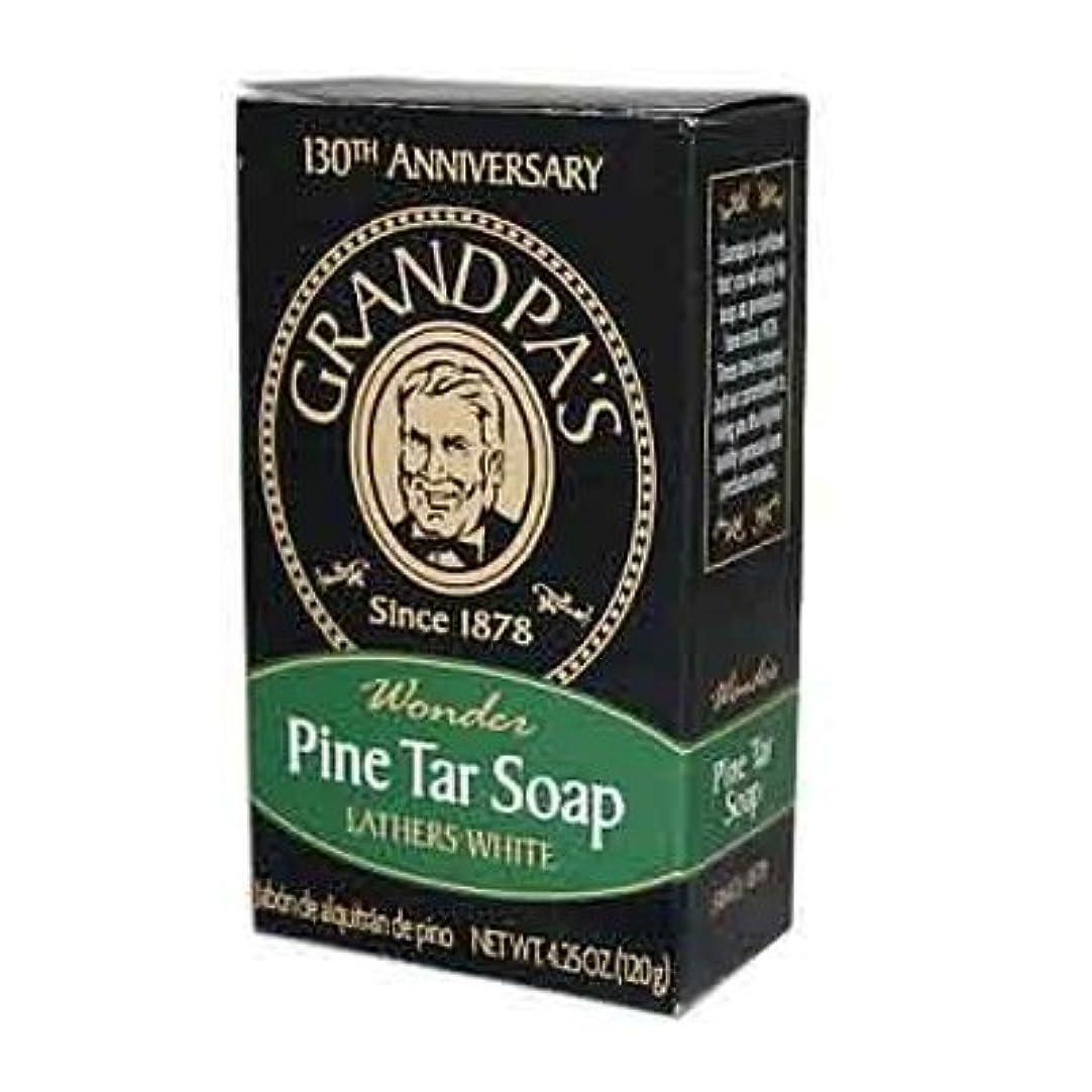 水を飲む戦術干し草Pine Tar Bar Soap - 4.25 oz by Grandpa's