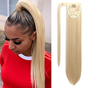 Beauty Shopping SEIKEA Clip in Ponytail Extension Wrap Around Straight Hair for