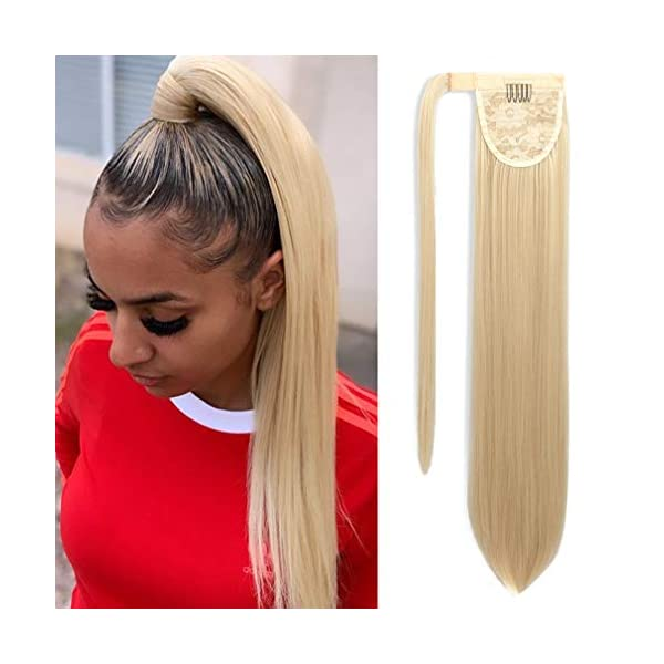 Beauty Shopping SEIKEA Clip in Ponytail Extension Wrap Around Straight Hair for Women (12″,