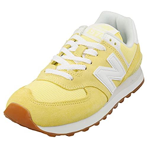 New Balance 574 Pastel Pack, Zapatillas Mujer, Amarillo (Lemon Haze), 37 EU