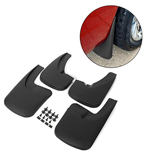 ECOTRIC Molded Mud Flaps Guards Front & Rear Splash Guards Fit Dodge Ram 1500 2009-2018&2010-2018 Ram 2500 3500 with Fender Flares 4 Pieces